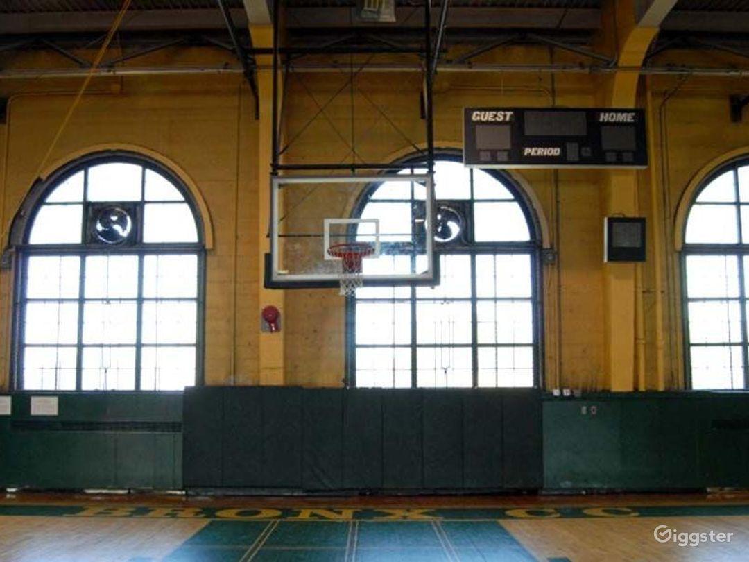 School basketball gym facility: Location 4244 Photo 1