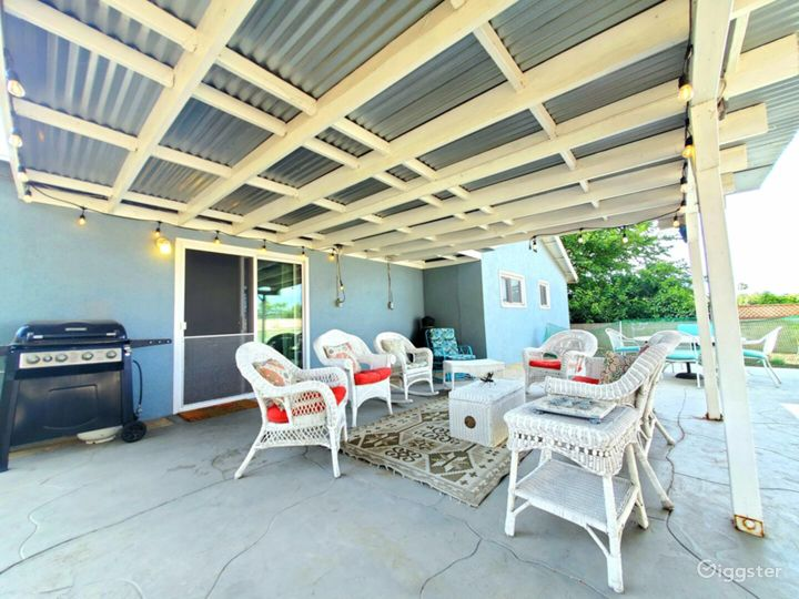 Covered patio space