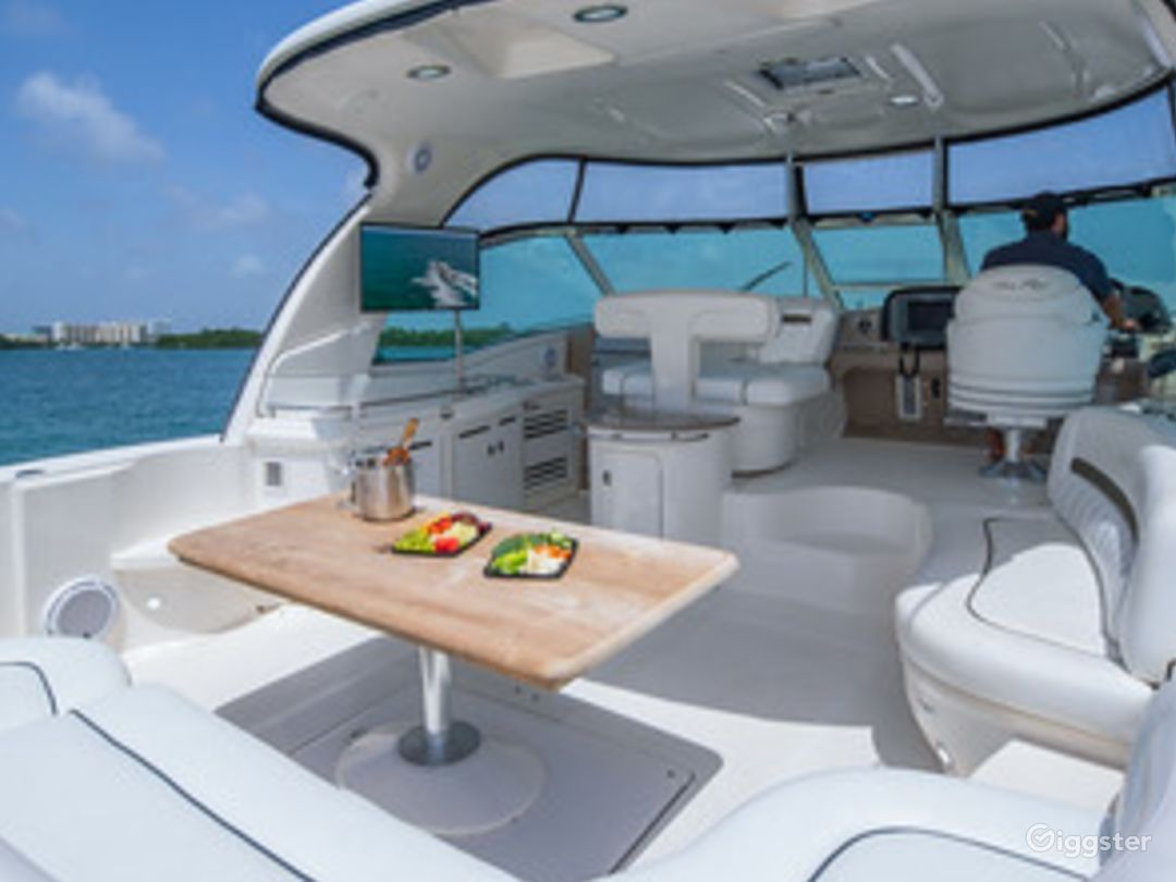 Top of the Line 55' SEA RAY SUNDANCER  Party Yacht Space Events Photo 1