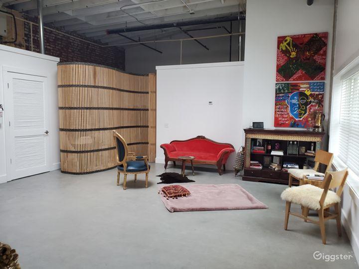 Loft-Style Industrial Studio Residence w Courtyard