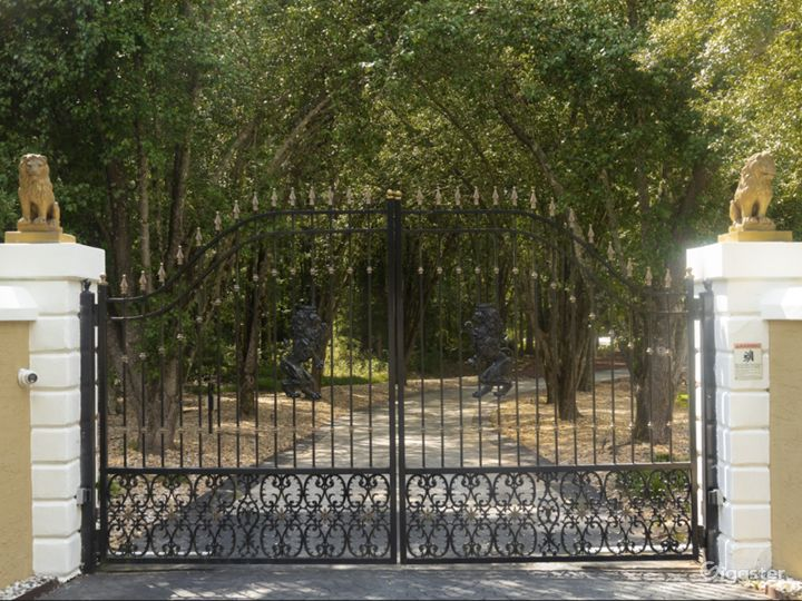 Private front gate entrance