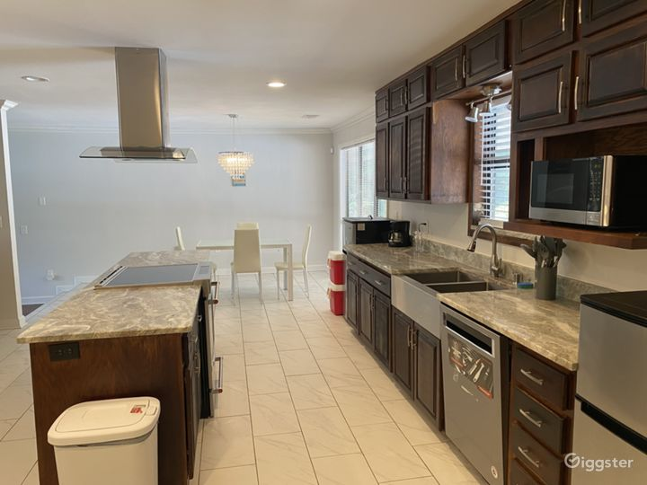 Rent our kitchen with marble countertops for you cooking show, catering business, dinner, reception, etc.