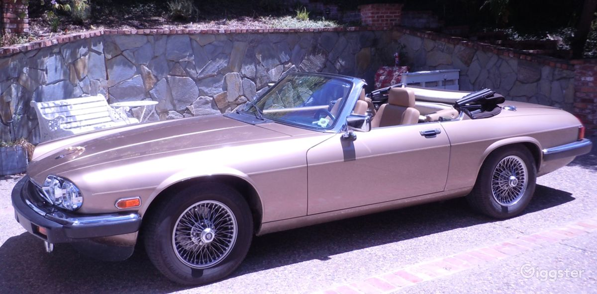 Classic 1990 XJ12 Gold Jaguar Convertible   Rent this location on Giggster