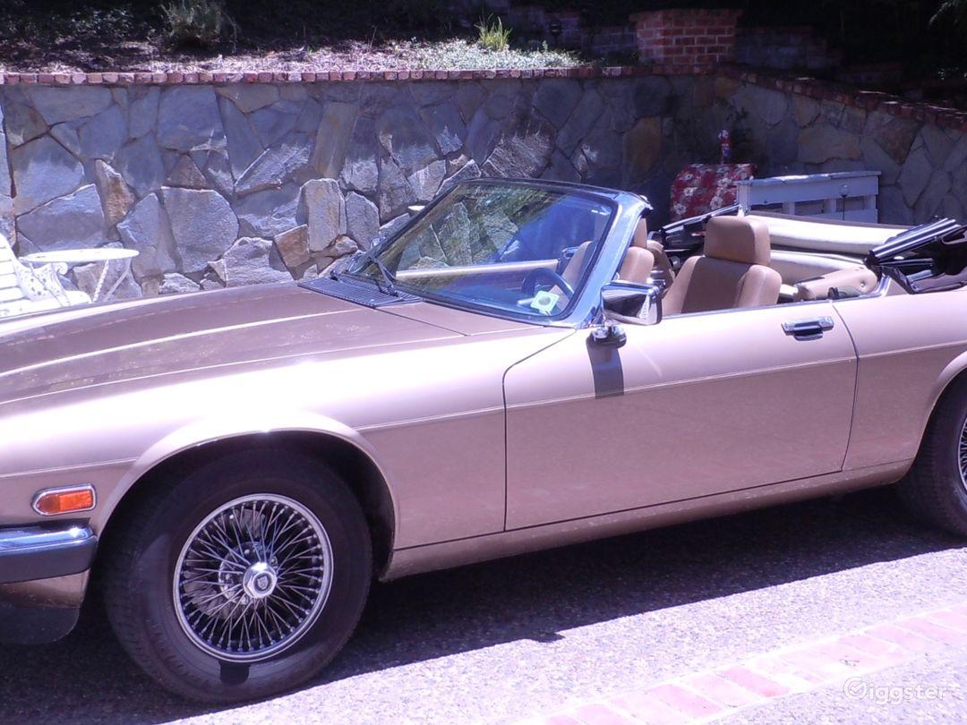 1990 XJ12 Gold Jaguar Convertible
