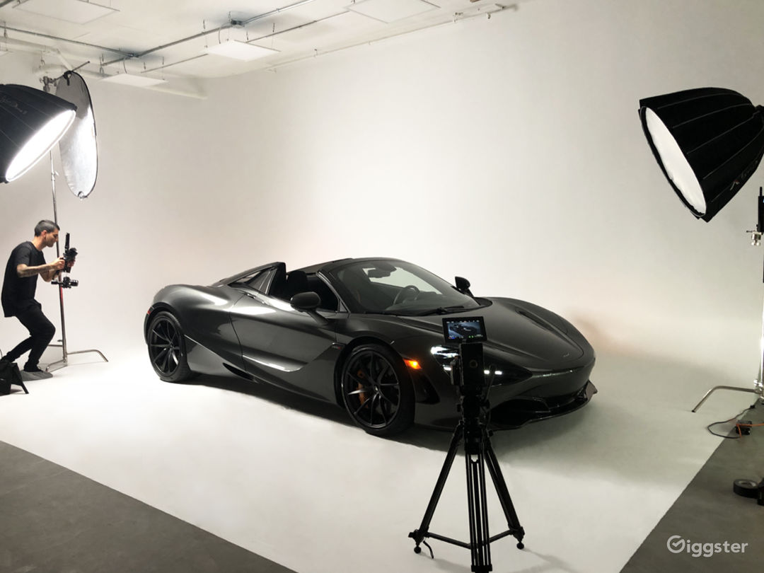 The studio has the capability to shoot small to mid-sized vehicles.