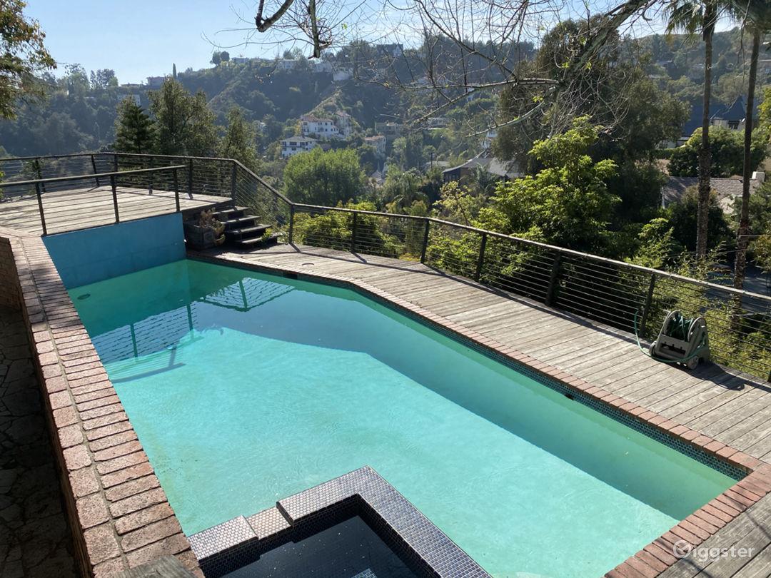 Beachwood Canyon MidCentury Modern House with Pool Photo 1