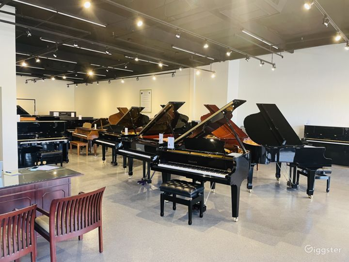 Spacious, light-filled, luxury piano store, Tempe Photo 4
