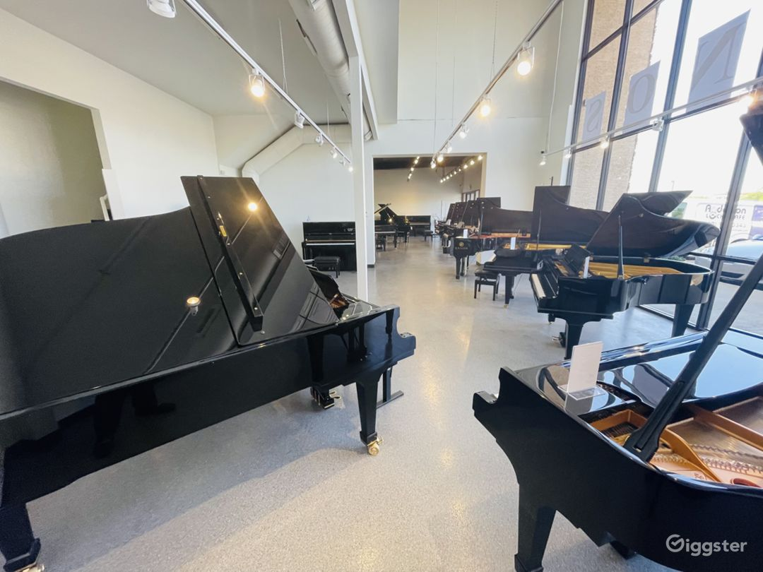 Spacious, light-filled, luxury piano store, Tempe Photo 1