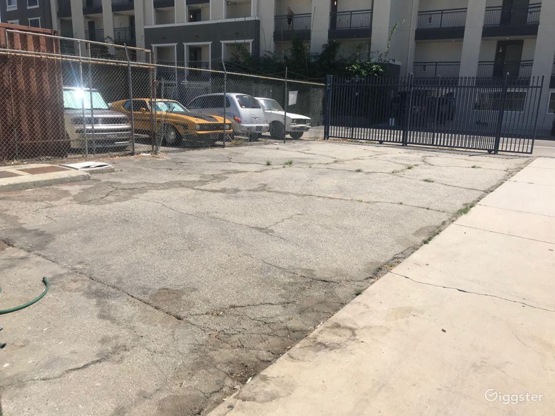 Back Ally Parking Crew Gated Car Garage Warehouse Photo 4