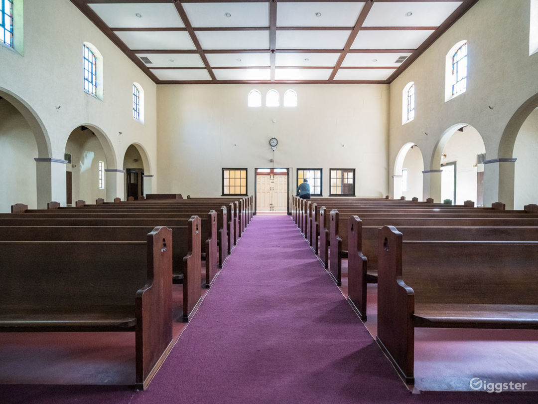 There are a total of 12 pews on each side