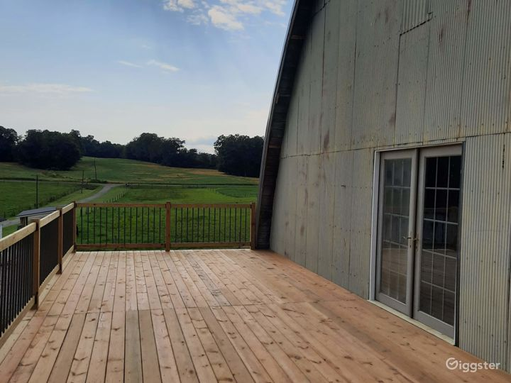 Large deck overlooking the pastures