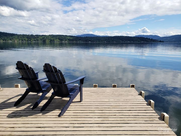 The property has one of the longest docks on the lake; it extends approximately 65 feet, offering boat access (there's a boat lift and boat whips) and easy access to swimming in the lake.