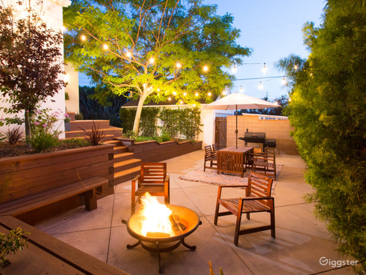 Great outdoor space in backyard