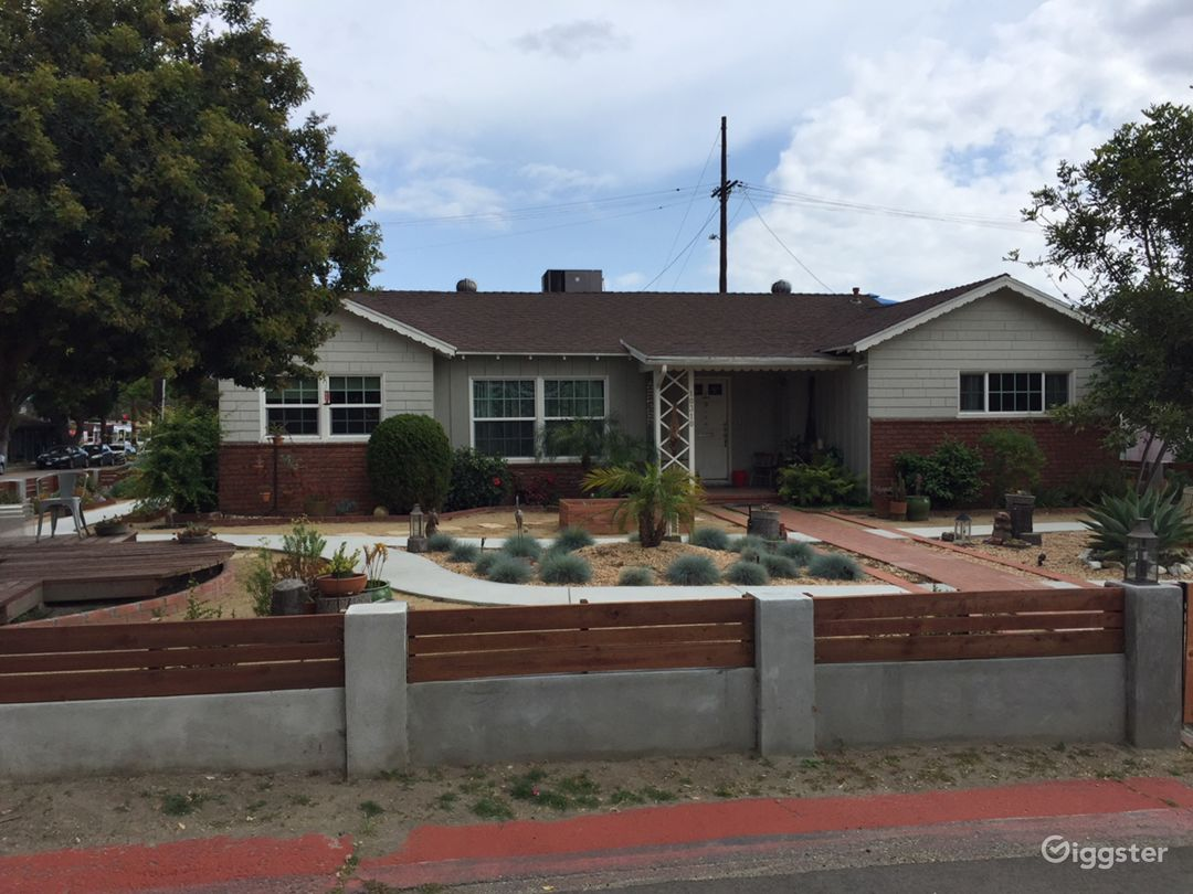 front of house with drought tolerant landscaping