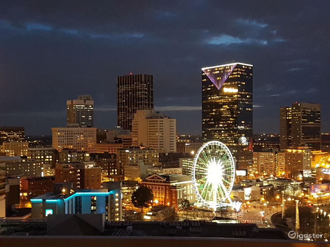 Penthouse balcony night view
