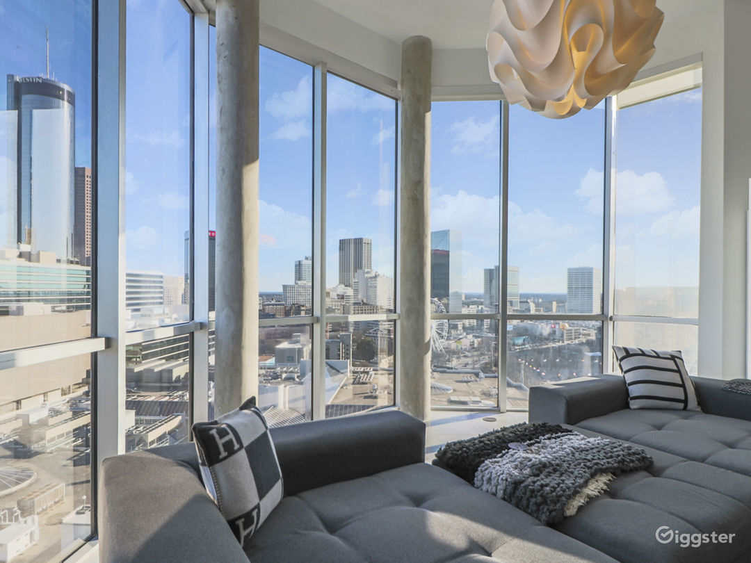 Penthouse Living room Day