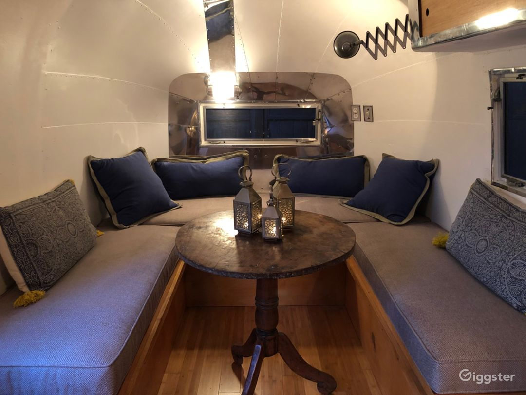 Vintage Airstream with polished interior