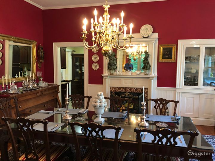 A formal dining room