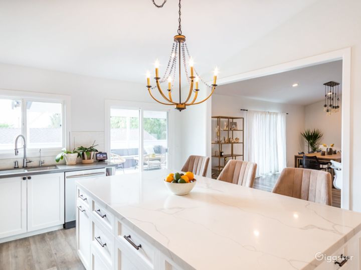 White kitchen with shaker style design
