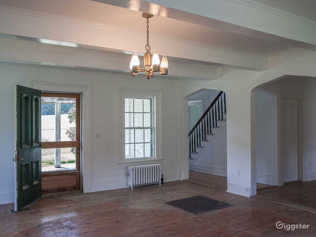 front door and living area