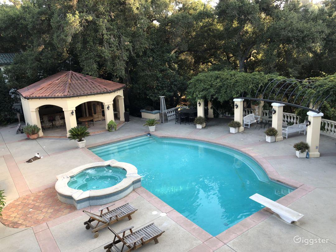 Top pool view