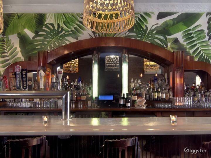 Caribbean Inspired Cocktail Bar Area