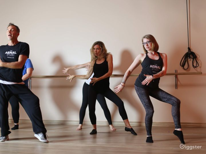 dance, aerial yoga and yoga studio, option for 9 aerial points