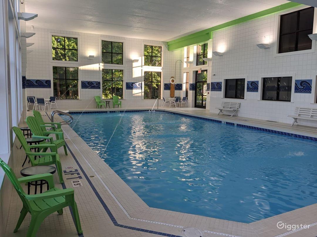 Crystal clear indoor pool in Ohio Photo 1