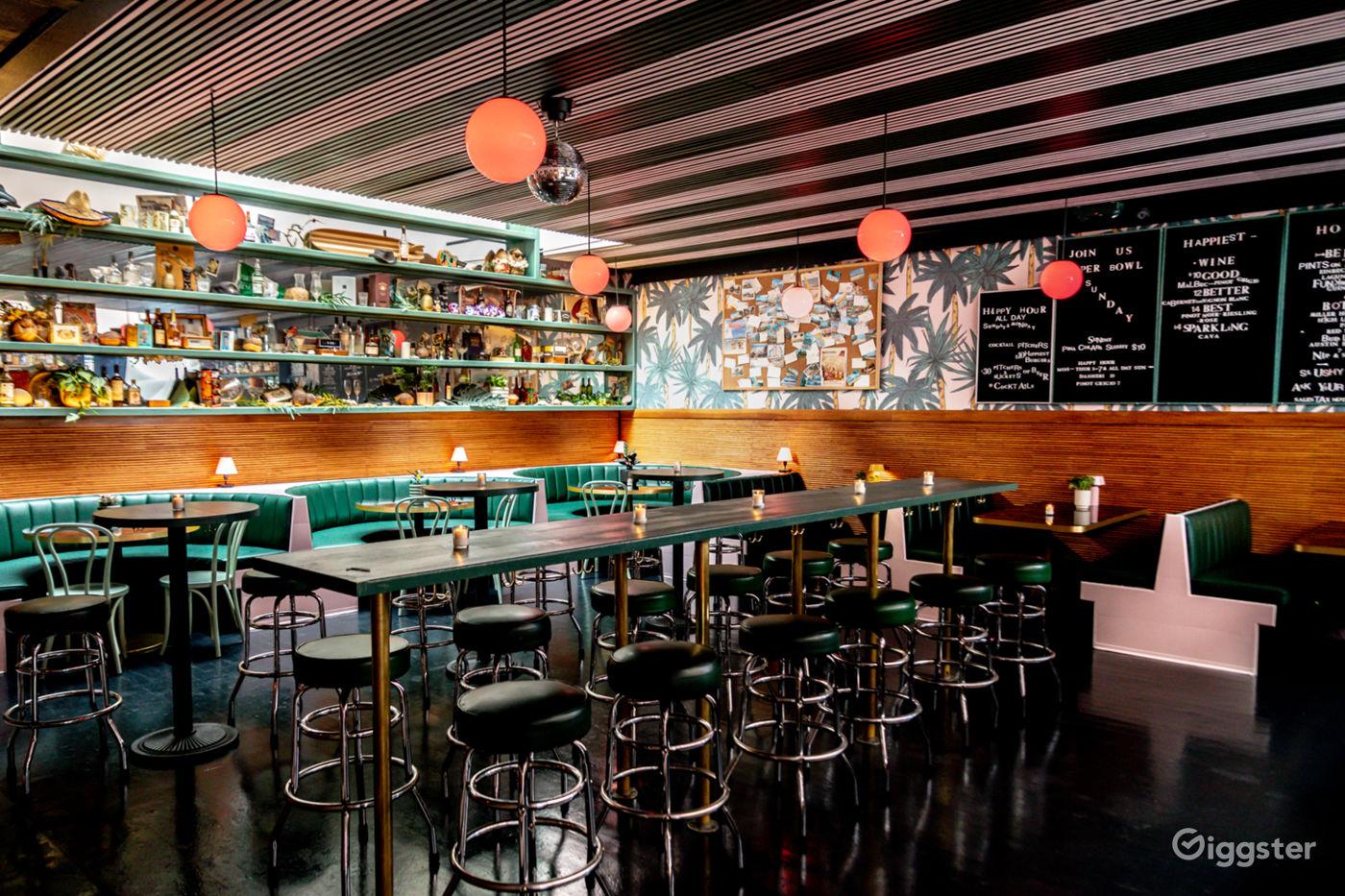1950s Florida Resort Style Cocktail Bar in Manhattan New York Rental
