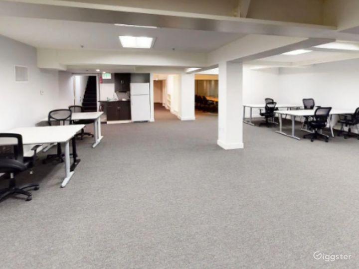 Open plan flex space