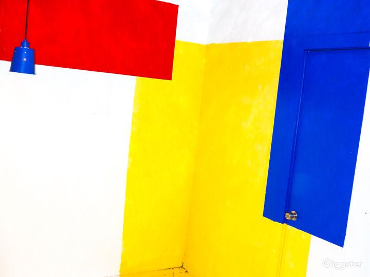 mondrian inspired color corner