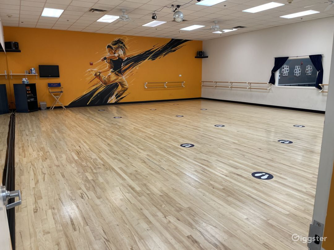 Our largest studio, over 1300 square feet!