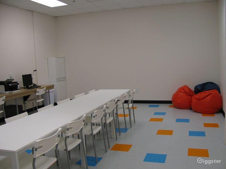 Breakroom, homework room, birthday party room