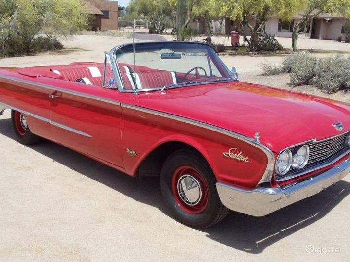 Slick Red 1960 Ford Galaxie Convertible Photo 3