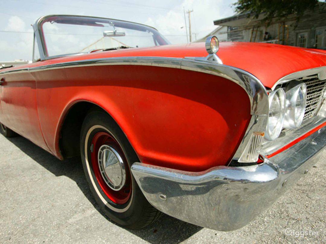 Slick Red 1960 Ford Galaxie Convertible Photo 1