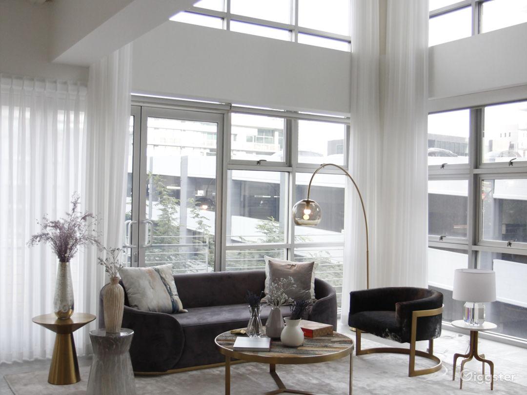 Corner penthouse view