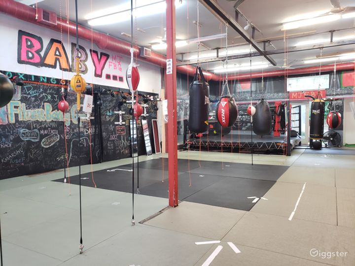 Industrial Boxing Gym in Urban Location
