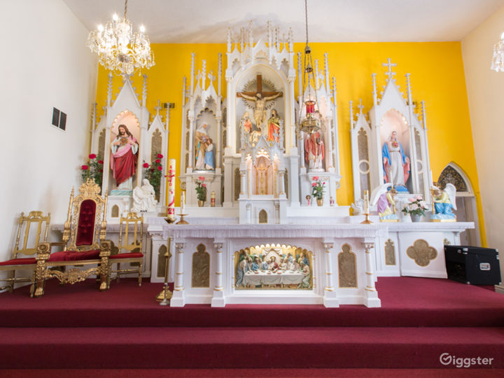 Colorful Spanish Church with Ornate Altar