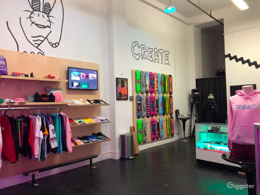 Stylish Skateboard Shop for Productions in SF  Photo 1