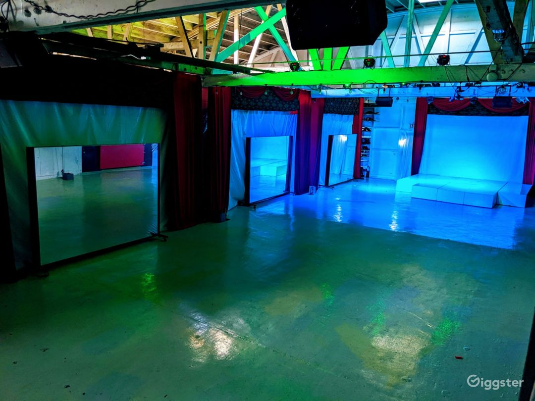 Warehouse High Ceilings and Theatrical Stage Lights