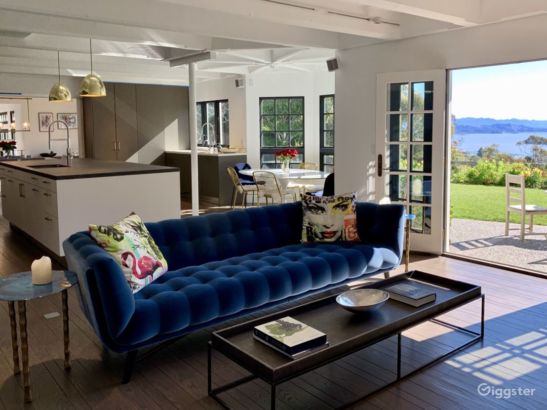 Kitchen opens to Garden and outrageous views