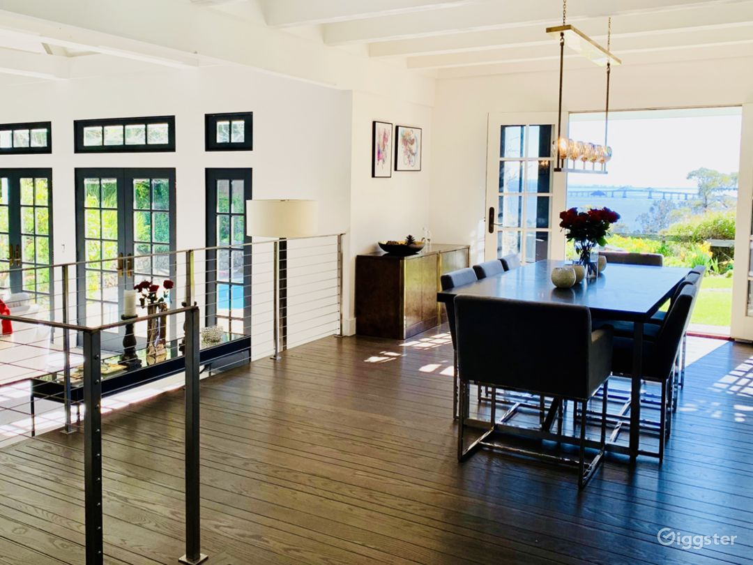 Living and Dining area open to Garden with incredible views