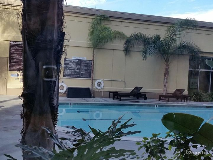 Hotel Pool with Sitting Area Photo 4