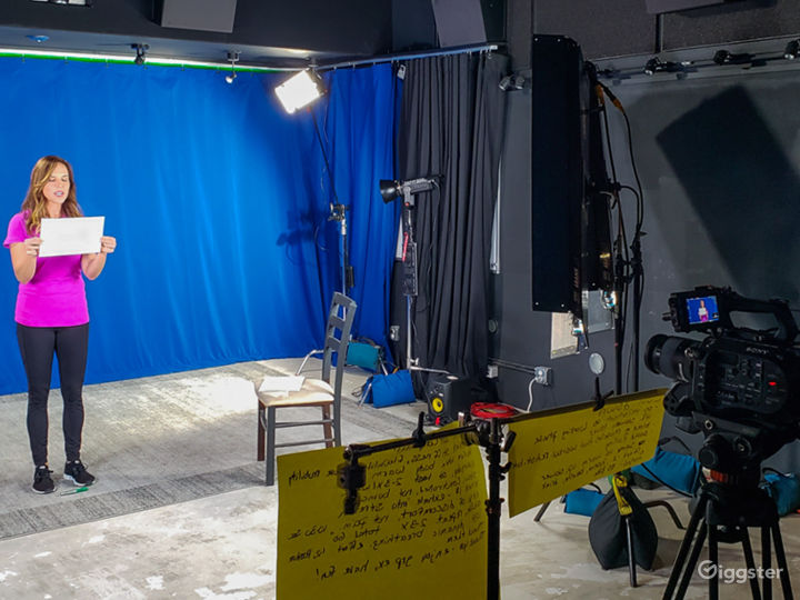 Studio with Green Screen and Sound Baffles Photo 3