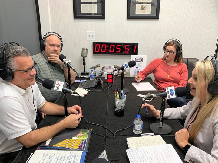 Professional Radio/Podcast Broadcasting Studio Photo 4