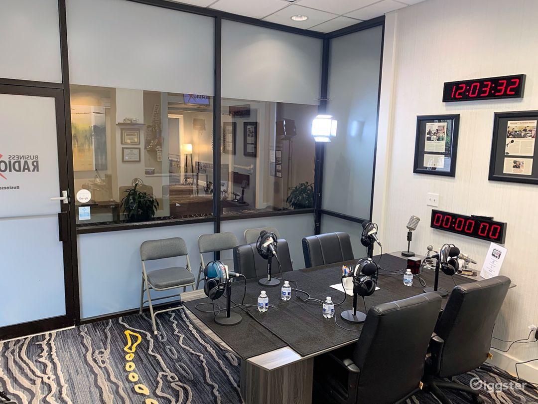 Professional Radio/Podcast Broadcasting Studio Photo 1