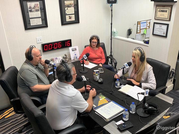 Professional Radio/Podcast Broadcasting Studio Photo 3