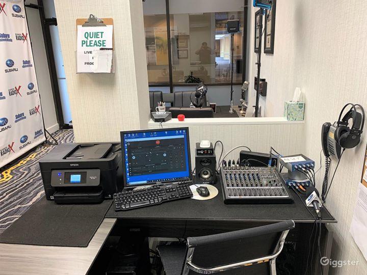 Professional Radio/Podcast Broadcasting Studio Photo 2