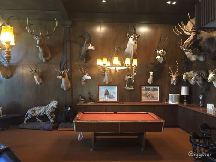 Midcentury mansion with quirky taxidermy