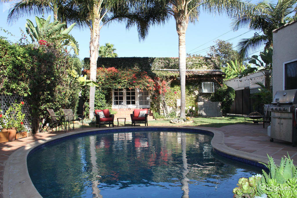Rent The House(residential) 1926 Spanish House With Pool In Hollywood! For  Filming